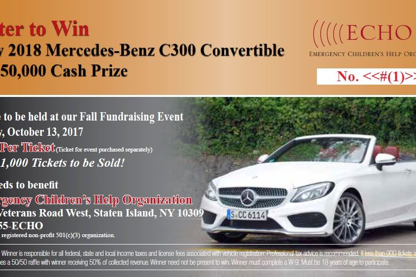 Upcoming events echo for Mercedes benz raffle 2017